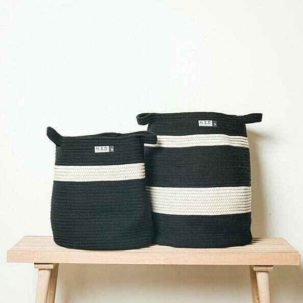 20% Off - These gorgeousScandinavianinspired Maggie100% cotton monochrome storage bins/basketsby NED Collectionsare perfect for any use. They are a good size and she canthrow a few pillows or blankets in them for storage or house your new little fiddle leaf fig or palm tree. And even better they can be used for all the loose toys around thehouse!  NOW $48 WAS $60. . http://ift.tt/2pUA2n4 . #sale #forkeepsstore #storage #scandidecor #scandistorage #bellybasket #storage #storagedecor #decor…