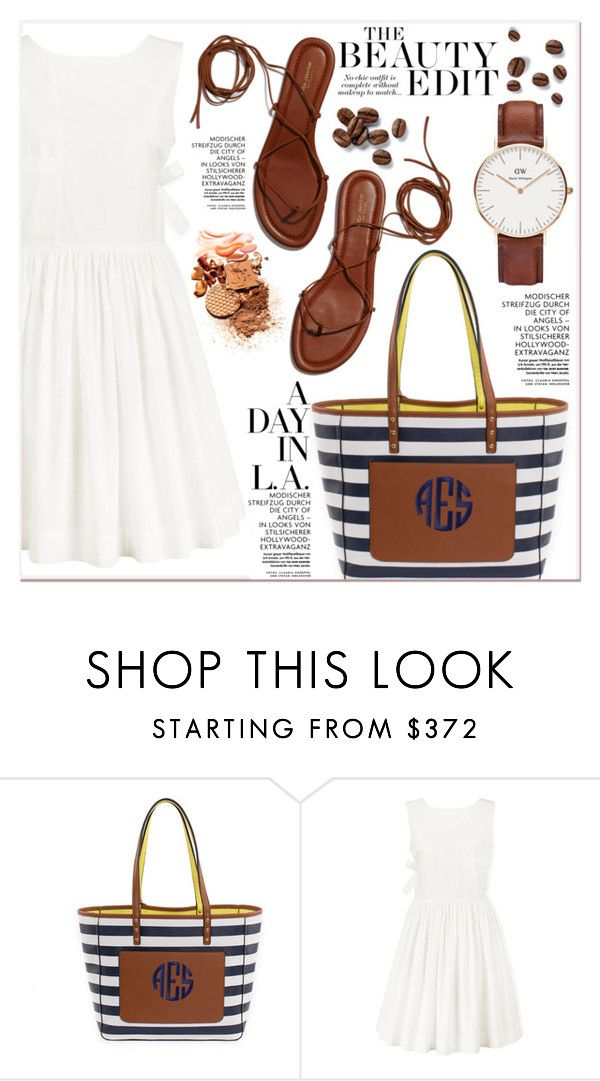 """""""# I/16 Poppy & Peonies"""" by lucky-1990 ❤ liked on Polyvore featuring Marc by Marc Jacobs and Daniel Wellington"""