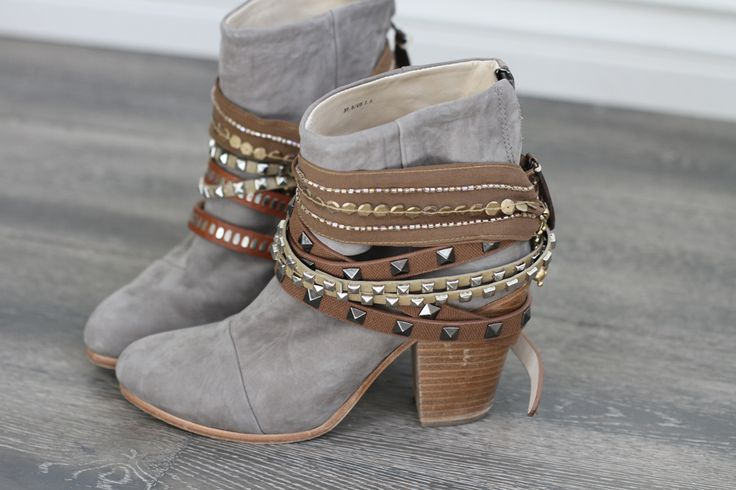 Fabulous Boho Style Booties Leather Strips Fall Trends