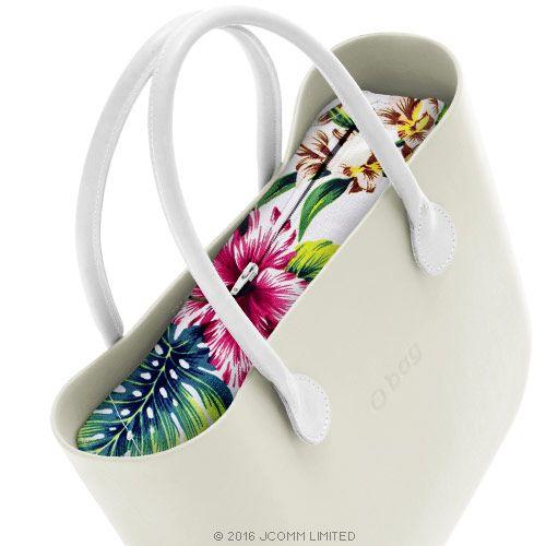 inner zip-up bag - flowers  - O bag accessory