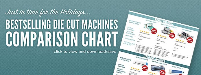 die cutting machine comparison chart