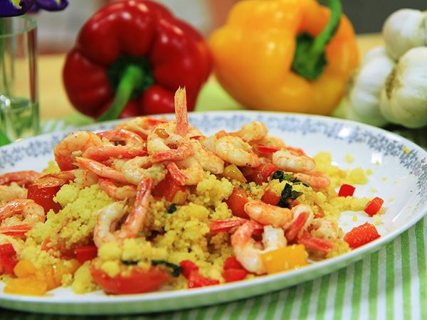Siciliansk couscous med räkor | Recept.nu