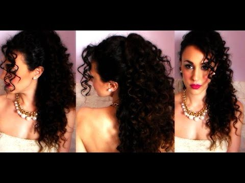 Wedding look 2015: ACCONCIATURA per CAPELLI RICCI ❤ - YouTube