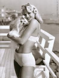 anna nicole smith for guess jeans. She was beautiful no matter what you thought of her!