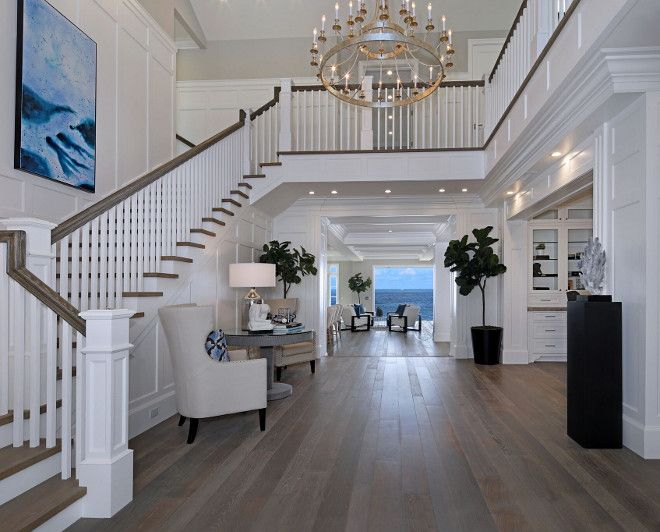 Foyer Stairs Uk : White cape cod beach house design staircase ideas