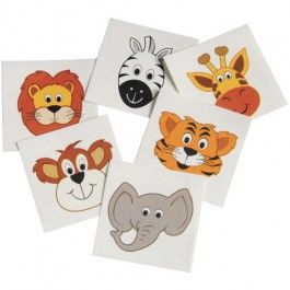 Jungle Party Supplies, Wild Animals Tattoos, Party Favors