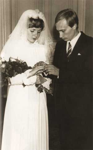 1983 wedding of Lyudmila Aleksandrovna and Vladimir Vladimirovich Putin, the Prime Minister of Russia.
