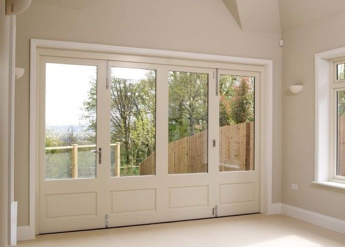The traditional range of Bi-fold Doors from Mumford & Wood are manufactured in Essex. The timber bi-fold doors are perfect for new build or refurbishment. Wooden bi-fold doors frames are made to order and visually stunning.