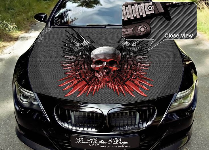 Best Images About Skull On Pinterest Jeff Dunham Disney - Custom vinyl decals for car hoodsfull color graphic vinyl sticker decal skull ghost fit car hood
