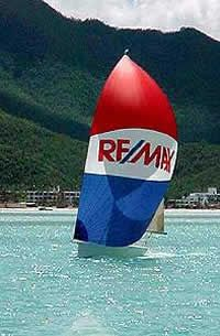 A beautiful RE/MAX sailboat on clear waters  #RemaxNo1 #ForSale