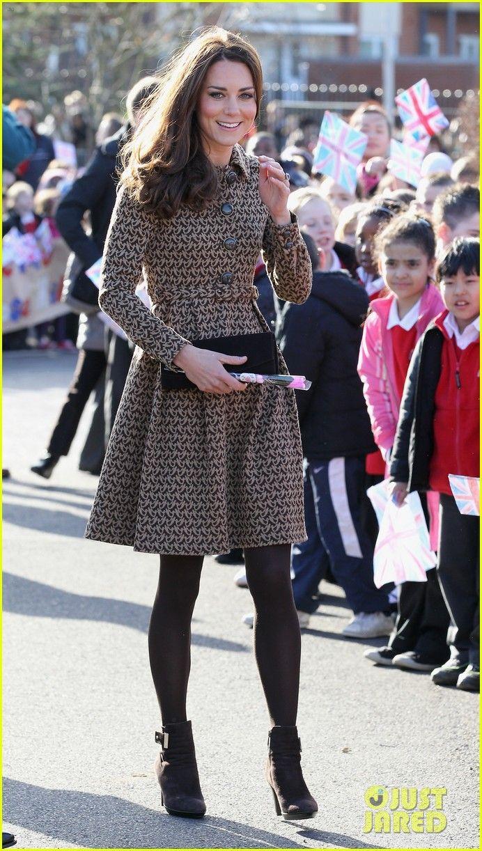 Kate Middleton coat dress + booties