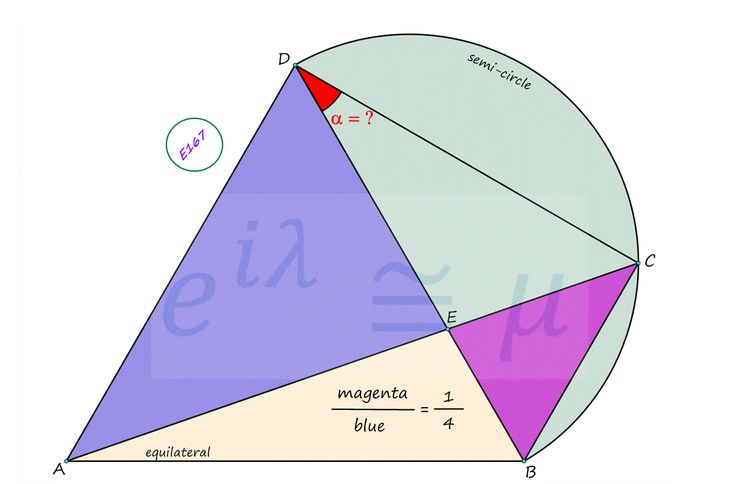 Equilateral Triangle & Semi-Circle #mathematics #satexam #actexam #mathteacher #teachmath #study #riddle #thinking #learning #yks #test #gercekboss #eylemmath #gercekboz #highschool #geometry #calculus #algebra #stem #reasoning #math #competition #amc #aime #olympiad