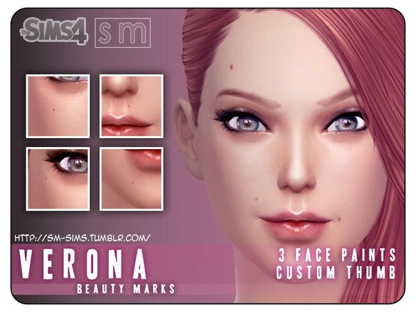The Sims Resource: Verona Beauty Marks by Screaming Mustard • Sims 4 Downloads