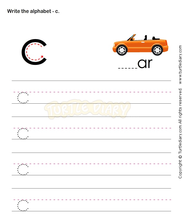 small letters c esl efl worksheets kindergarten worksheets alphabet worksheets pinterest. Black Bedroom Furniture Sets. Home Design Ideas