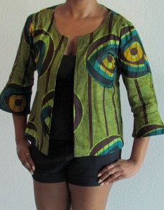 African Print Summer Jacket by ifenkili on Etsy, $30.00