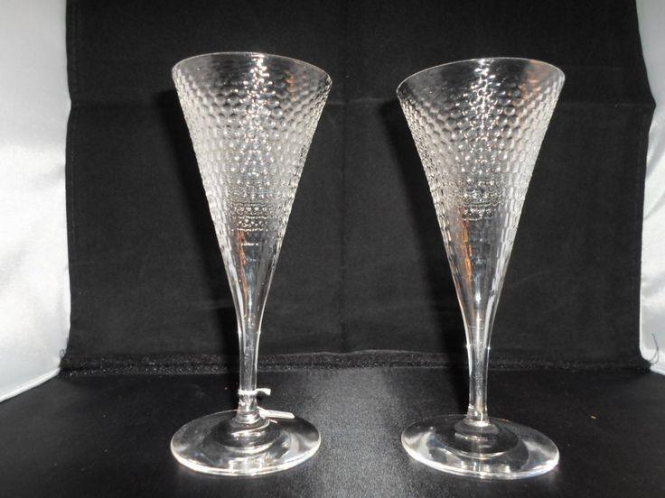 """2 Verres à Vin De Champagne cristal XIXème,2 Verres à Vin De Champagne cristal XIXème""""  2 exceptionnels verres à vin de champagne alvéolé  cristal XIXème  parfait état  hauteur 15cm  diamètre buvant 6.8cm environ  diamètre pied6.4cm  pontil éffacé  Catherine Daveau-Bitton, Proantic"""