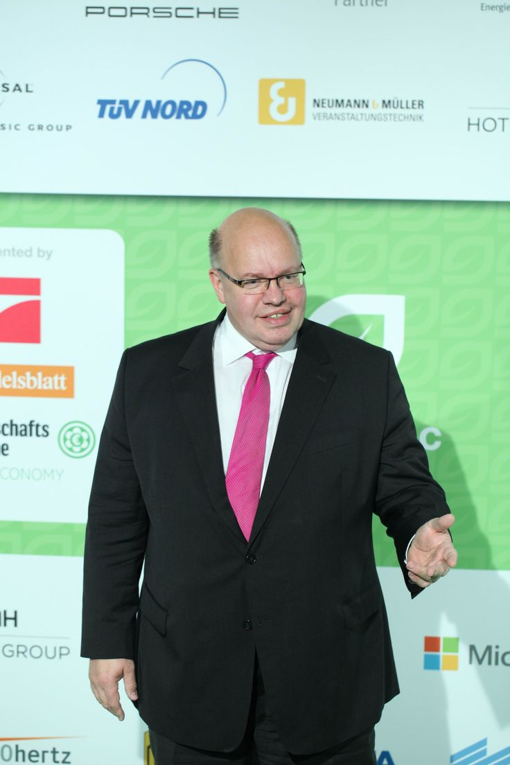 Peter Altmaier, Head of German Federal Chancellery - ECONYL® at the GreenTec Awards 2015 in Berlin. The Green Carpet was made by Vorwerk using ECONYL® regenerated yarn coming from fishing nets, old carpets and other pre-consumer waste. At the event we had also a photo booth with funny props inspired by our regeneration of carpets, nets and by the marine world we are fighting to save. #ethical #fashion and #design#sustainability