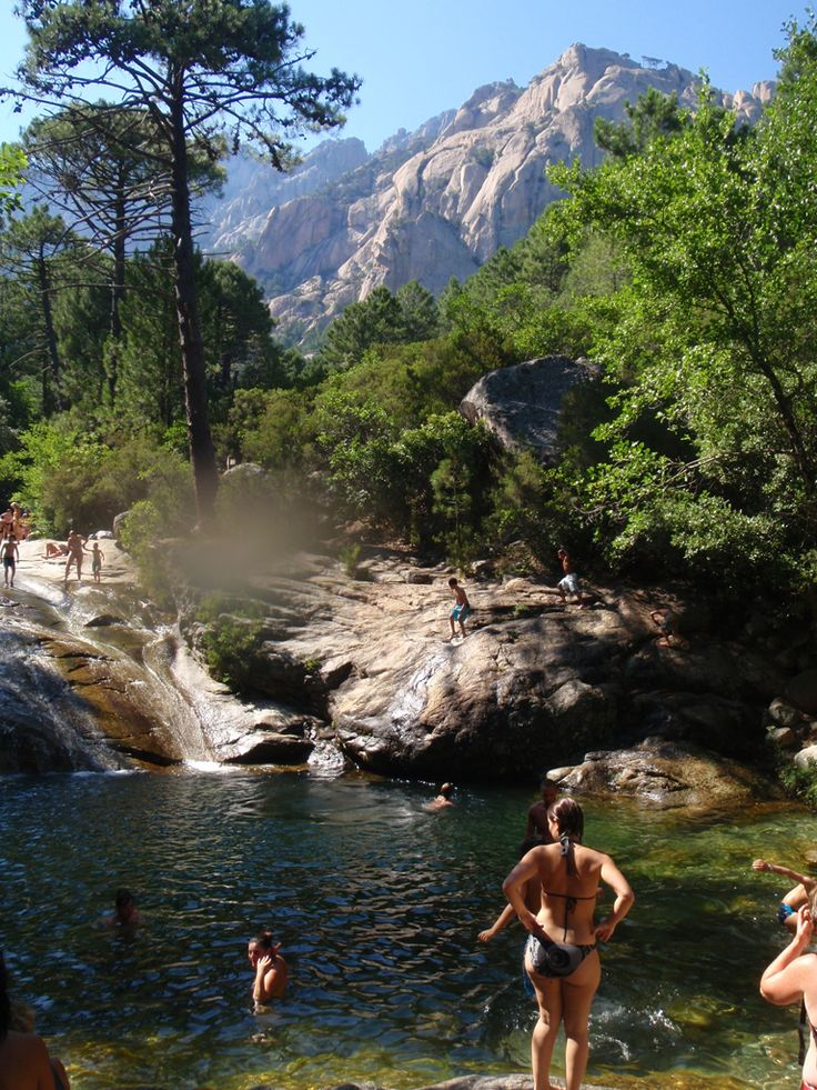 Korsika Polischellu Gumpen baden Kaskaden