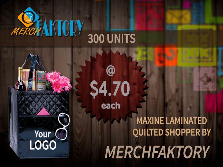 A #stylish way to promote your #brand with #MerchFaktory custom #bags and #shoppers. To know more visit: www.merchfaktory.com  #custombags #promotionalitems #merch #bag