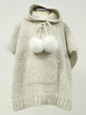 Hood poncho from Alpaca Society