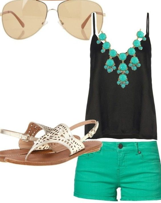 Summer fashion...love the green