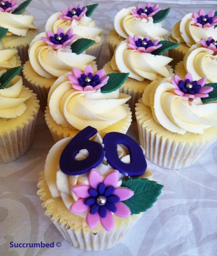 Cupcake Decorating Ideas For 60th Birthday : 25+ best ideas about 60th Birthday Cupcakes on Pinterest ...