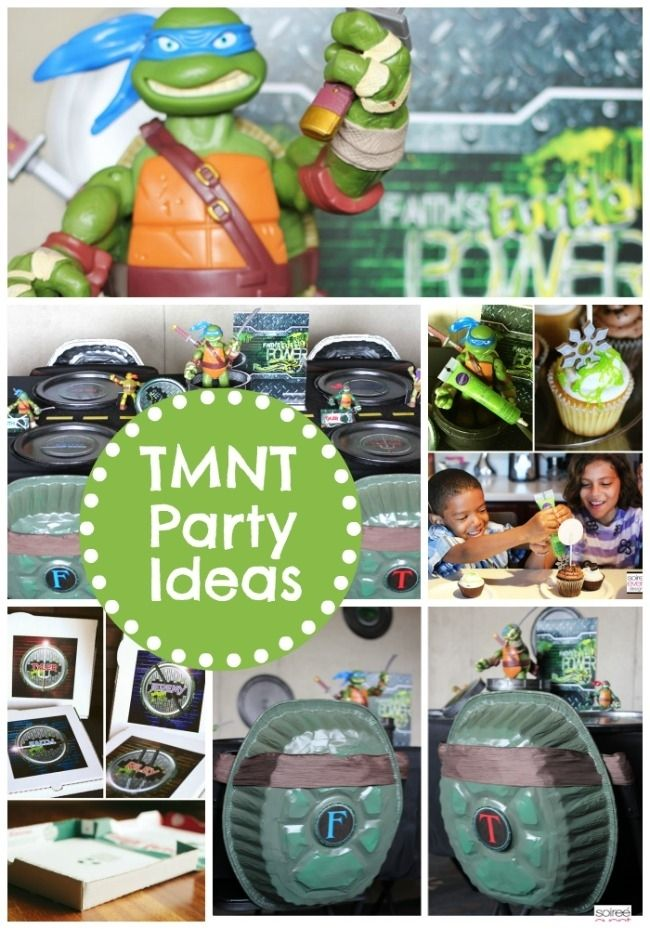 TMNT Birthday Party Ideas www.spaceshipsandlaserbeams.com