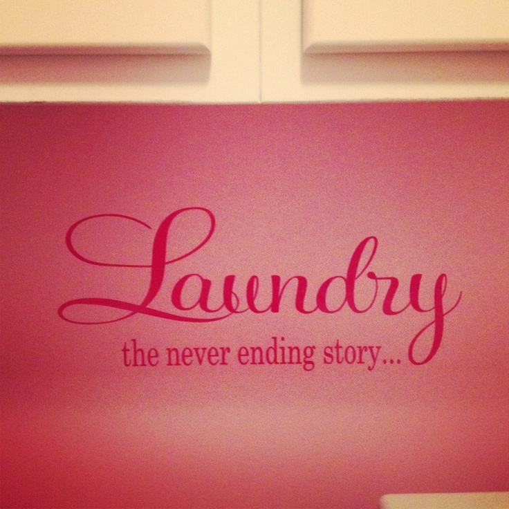 My pink laundry room, thanks for my adorable decal Posh Designs By Marilyn