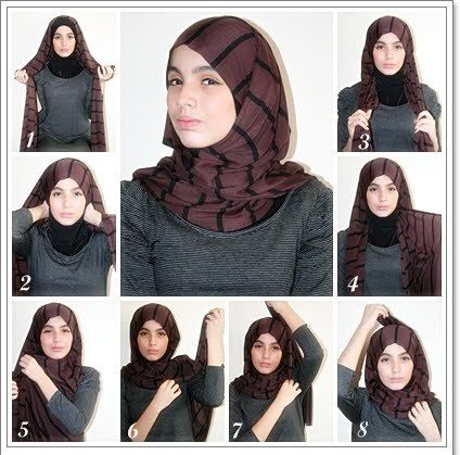 10 Hijab Tutorial Pictures  style five