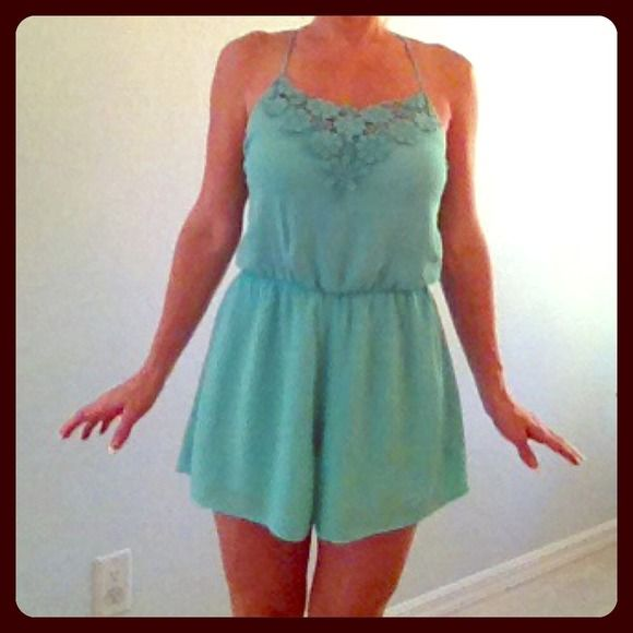 Apricot Lane Romper Peppermint romper from Apricot Lane Boutique Size Small. Perfect condition. Boutique Tops