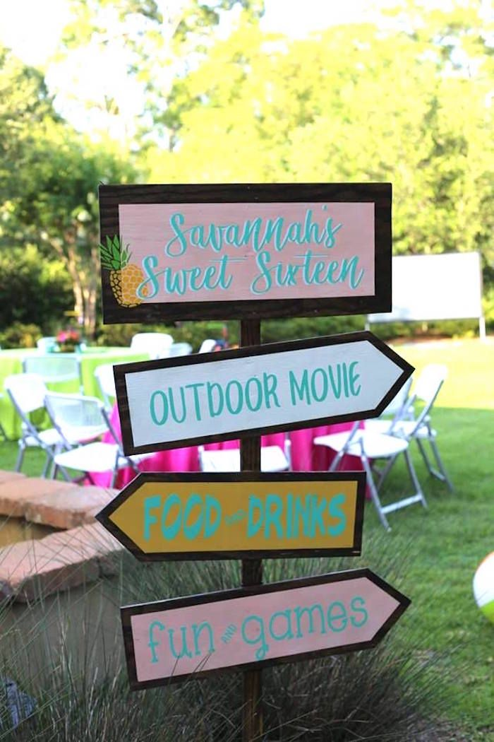 38+ Backyard sweet 16 party ideas at home ideas in 2021