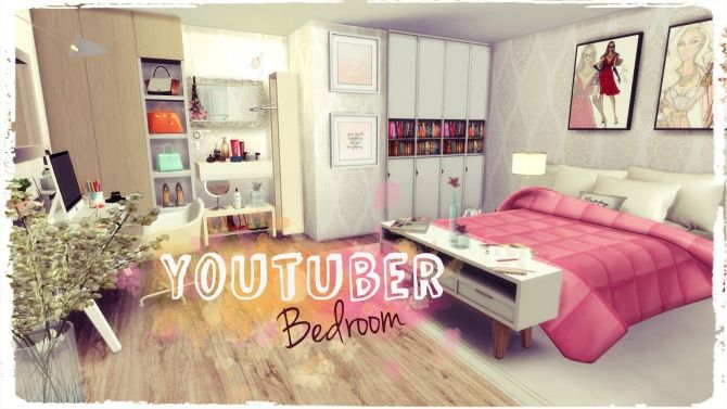 Youtuber Bedroom at Dinha Gamer • Sims 4 Updates