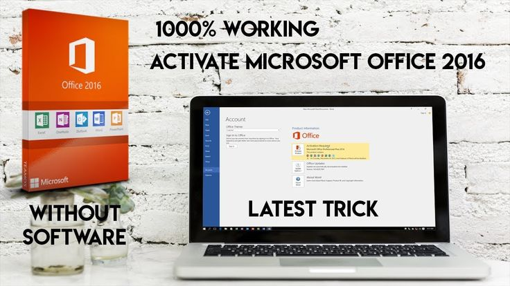 How to activate Microsoft office 2016 for free!! Full