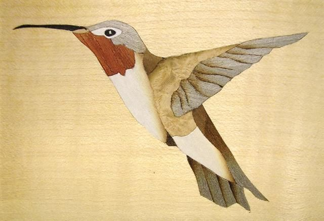 Marquetry Hummingbird Design Marquetry And Inlay