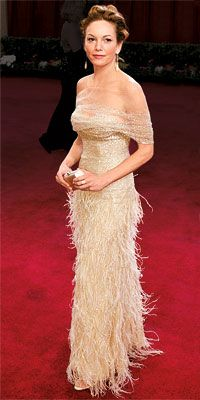 Diane Lane, Oscars 2003 - one of my favorite Oscar dresses ever. But then again, I'm obsessed with feathers.