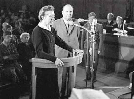 Milada Horáková was a Czech politician and was elected a Member of Parliament, where she remained until the Communist coup in February 1948. Despite being urged by her friends to leave Czechoslovakia, she remained in the country and was politically active. On September 27, 1949, the Communist authorities arrested her and charged her with conspiracy against the state. Despite being tortured she refused to accept the legality of the current government.