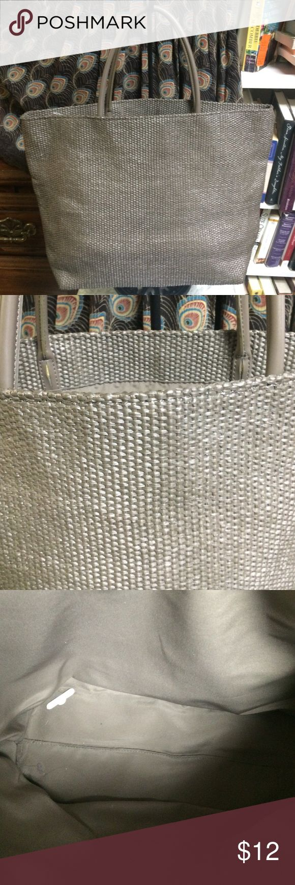 "NWOT Gap Handbag Gap tote Handbag taupe color 17"" wide 12"" depth 6"" double strap Gap Bags Totes"