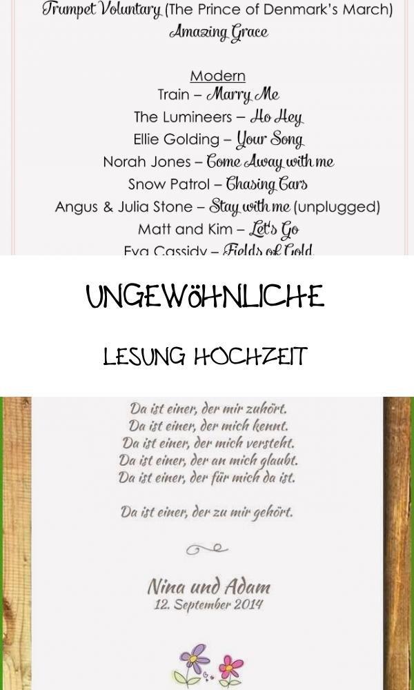 Primary 13 Ungewohnliche Lesung Hochzeit