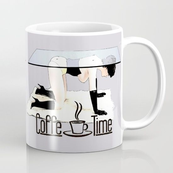 10% Off + Free Shipping on Everything - Ends Tonight at Midnight PT!  Available in 11 and 15 ounce sizes, our premium ceramic coffee mugs feature wrap-around art and large handles for easy gripping. Dishwasher and microwave safe, these cool coffee mugs will be your new favorite way to consume hot or cold beverages. #erotic #bdsm #bondage #art