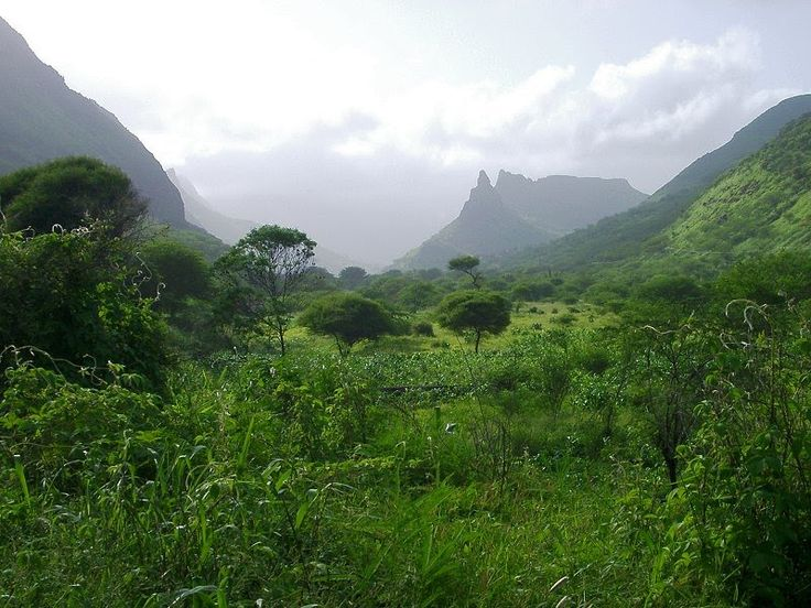 Summer landscape, central Santiago, Cape Verde