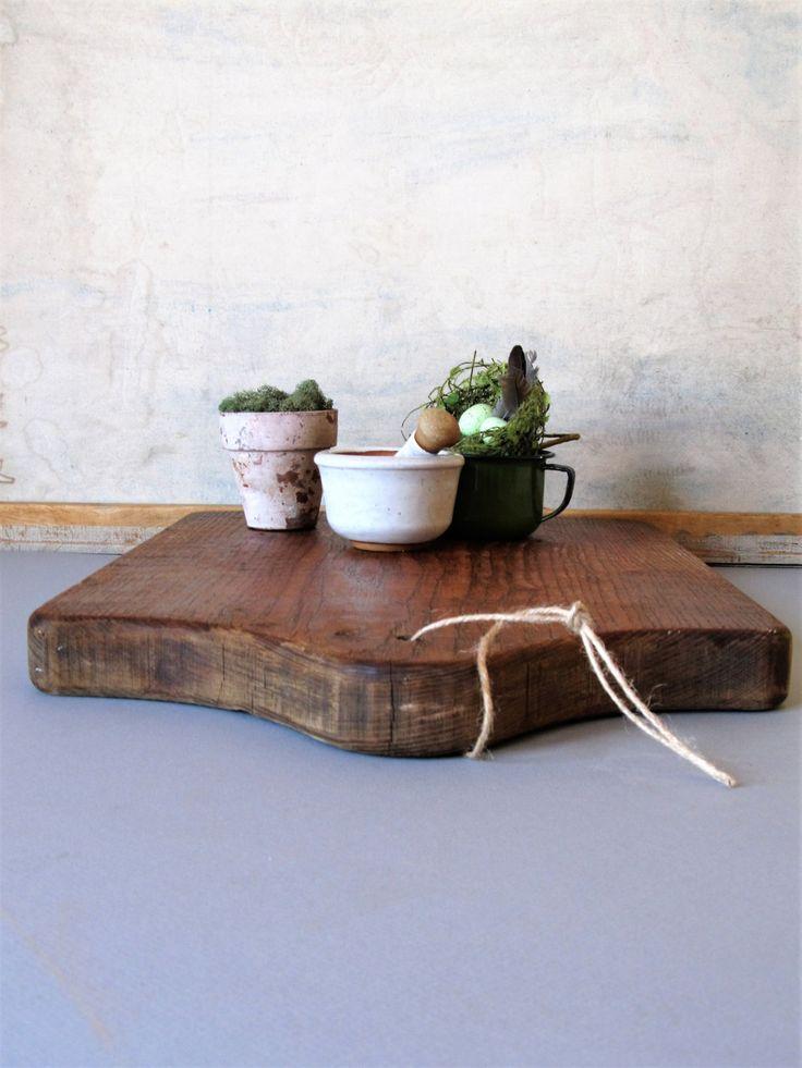 Wooden chopping board, farmhouse deco,r cutting board, cheese board, kitchen decor by justynamrugala on Etsy