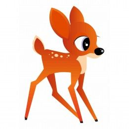 Muursticker Bambi (2 afmetingen)