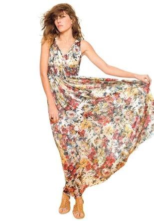La Redoute Плюс Размер цветочные платья макси печати: Amazon.com: Одежда