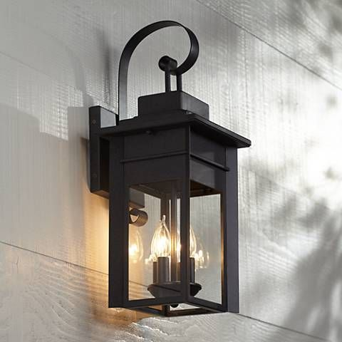 "Bransford 21"" High Black Iron Outdoor Wall Light - #8M882 
