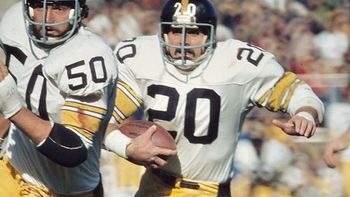 Why He's Tough: Among the stars of the '70s Steelers dynasty was one beloved running back who traveled a road few could imagine. After getting drafted, Rocky Bleier volunteered for the Vietnam War and was sent in. Despite a shrapnel in his leg, this scrappy legend came back and eventually went on to play a pivotal role on four Super BowlBleier Volunteers, Steelers Country, Steelers National, Rocky Bleier, Sports, Pittsburgh Steelers, Bleier Fb, Famous Steelers, 70S Steelers