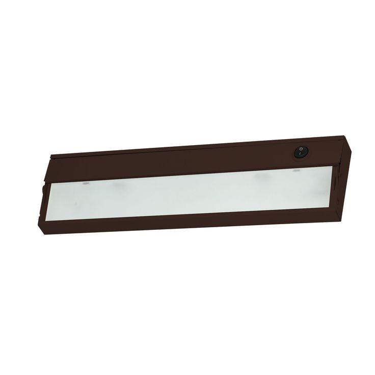 Alico Zeeline 1 Lamp Xenon Cabinet Light In Bronze With Diffused Glass