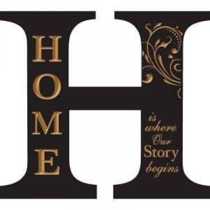 Best Wall Décor Items That Make A Statement: Black Architectural Letter H Home Wood Carved Wall Hanging