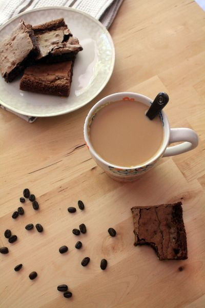 Dark chocolate coffee brownies made with fair trade ingredients are as decadent as they come. Plus there's a coffee boost!