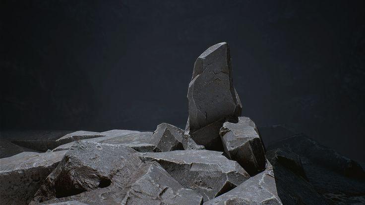 ArtStation - Cave Stones, Moses Saintfleur