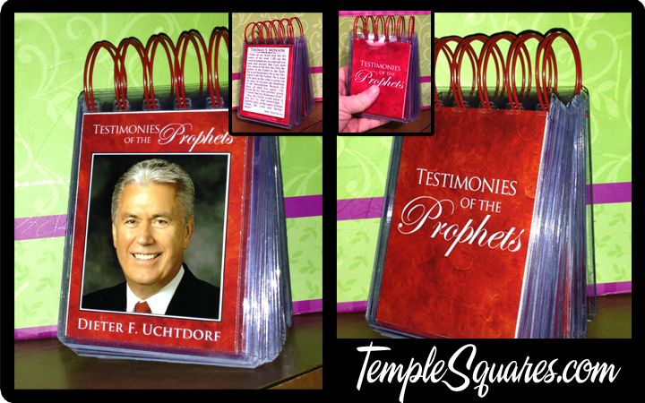 LDS Quiet Book or Sacrament Meeting Book. Testimonies of the Prophets and Apostles. Great Gift for older Primary Children Young Men or Young Women or seminary Students. Good incentive or craft activity. Pre made or DIY Kits for printables.